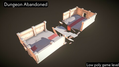 Dungeon abandoned - low poly game level