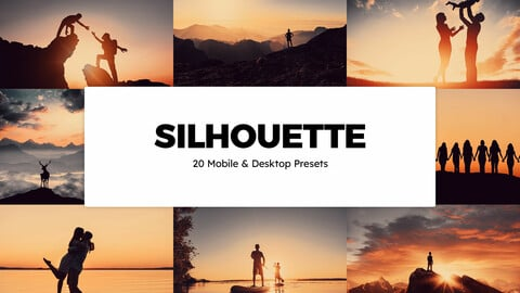 20 Silhouette LUTs and Lightroom Presets
