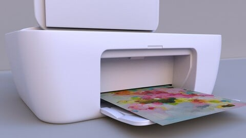 printer  lowpoly model