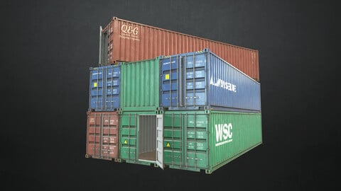 Shipping Container - Low Poly