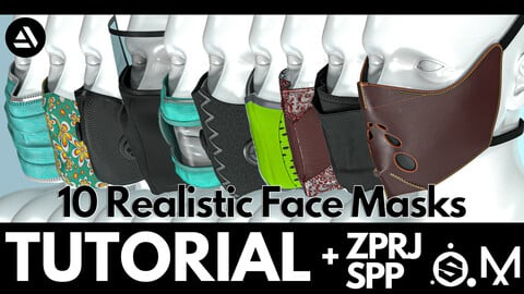 Marvelous Designer & Substance Painter course : 10 Realistic face mask tutorial