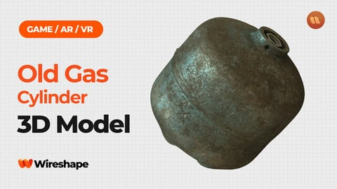 Old Gas Cylinder - Real-Time 3D Scanned Model