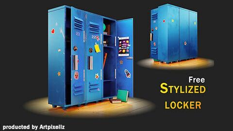 Stylized locker / game asset (Free)