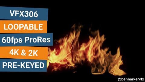 VFX306 - Loopable Ground Fire VFX Asset