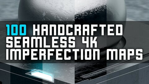 100 Seamless 4K Surface Imperfection Maps Pack