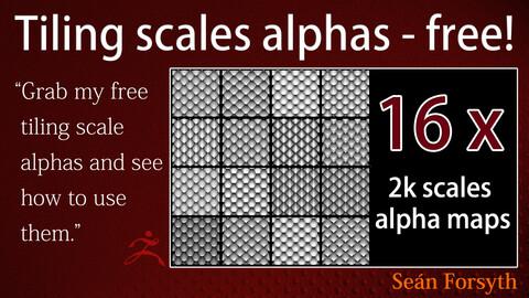 16 x 2k tiling scales alpha maps
