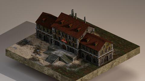 Medieval Academy 3D Model