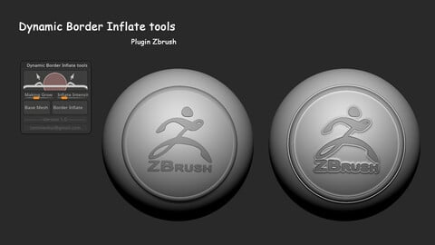 Dynamic Border Inflate tools plugin Zbrush