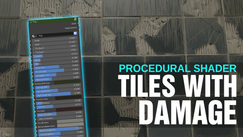 Procedural Tiles Shader with Displacement for Blender (Cycles)