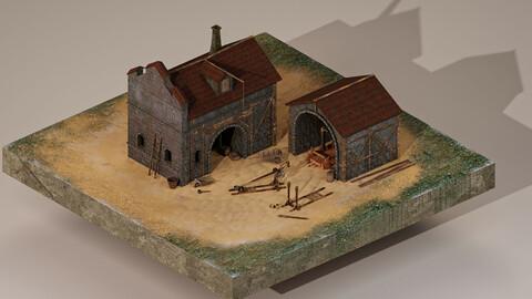 Medieval Workshop Level 1 3D Model