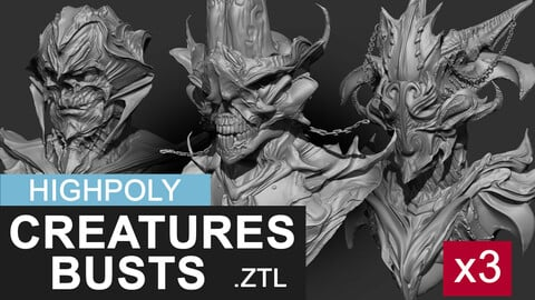 Highpoly Creature/Monster Busts
