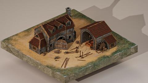 Medieval Workshop Level 5 3D Model