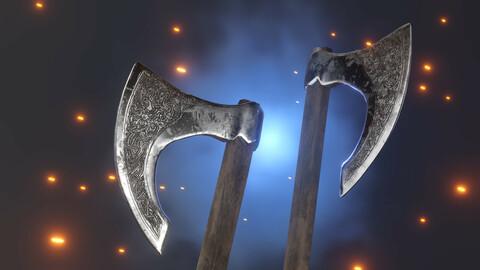 Medival Viking battle axe
