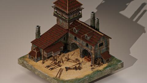 Medieval Workshop Level 10 3D Model
