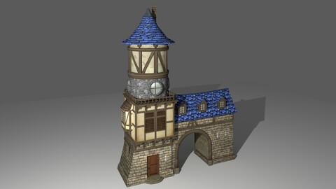 medieval cartoon house 7