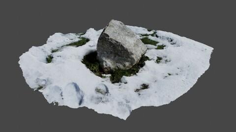 Stone In Snow - Photoscan