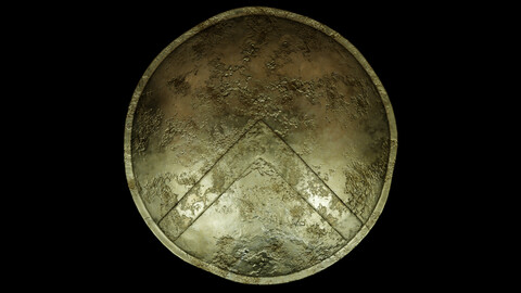 Spartan Shield Low poly