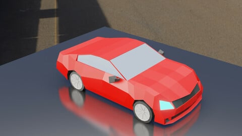 Low Poly Simple Car