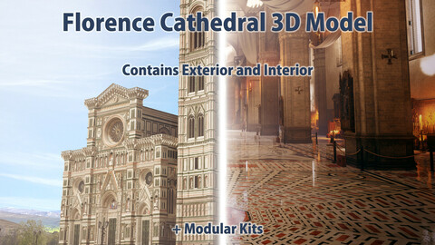 Florence Dome Cathedral (Santa Maria Del Fiore ) 3D Model | Exterior & Interior