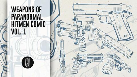 Brushe Tips of Parnormal Hitmen comic Vol. 1