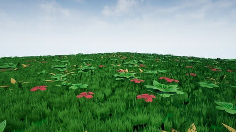 Collection Stylized Plants - Game Ready Low-poly 3D model