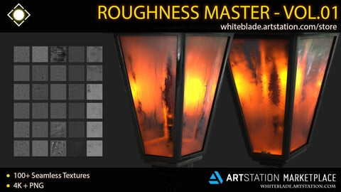 Roughness Master VOL 01 - 100+ Grunges & Imperfection Texture Pack