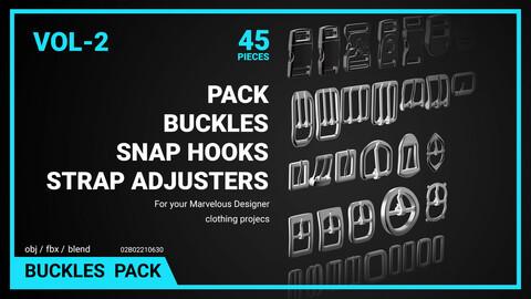 Buckles, Snap hooks, Strap adjusters Pack Vol 2