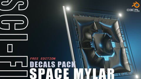 [FREE] Scifi space mylar decals pack