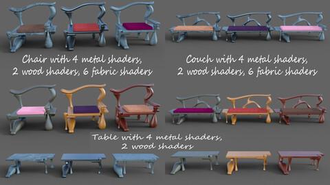 Fantasy Furniture Set 5 for DAZ Studio