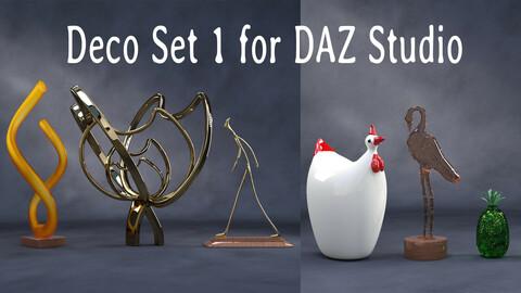 Deco Set 1 for DAZ Studio