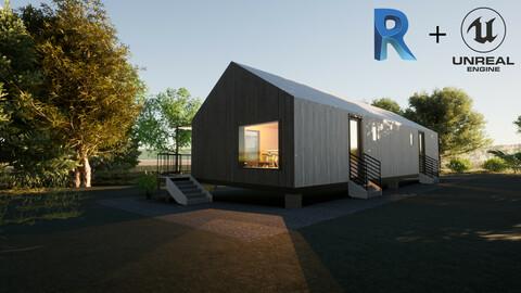 Revit Modern country house 1 3D model