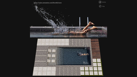 Swimming pool diving