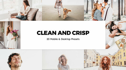 20 Clean and Crisp LUTs and Lightroom Presets
