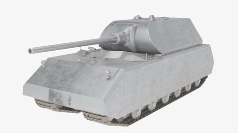 Maus Tank - Game-Ready - RIGGED - LOW-POLY - Low-poly 3D model