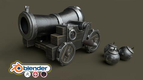 Stylised 3D Game Model Complete Beginners Guide - Blender - Zbrush - Substance Painter - Marmoset