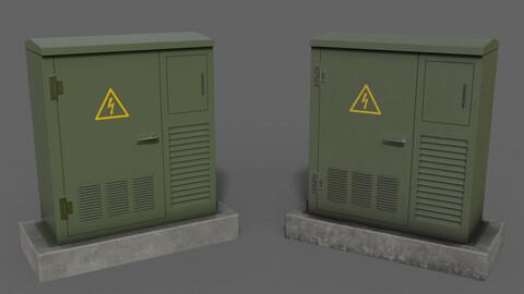 PBR Electric Box GreenGrey