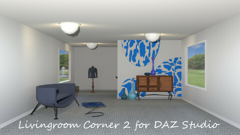 Livingroom Corner 2 for DAZ Studio