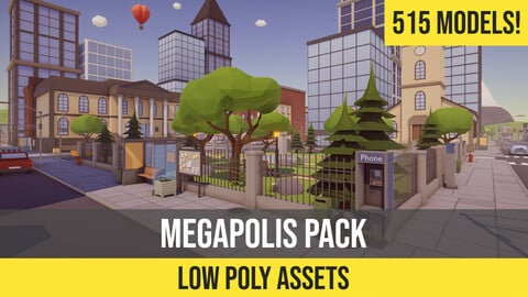 Low Poly Megapolis Pack