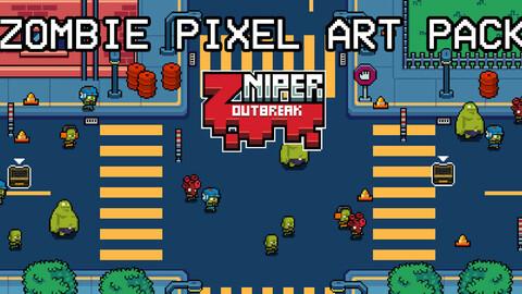 Zombie Pixel Art Assets Pack
