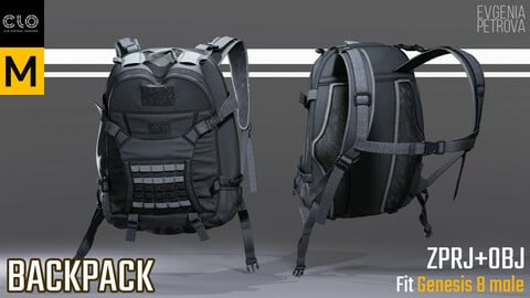 BACKPACK. MD,CLO3D PROJECT+OBJ