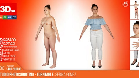 Turntable photoshooting reference of Serina Gomez