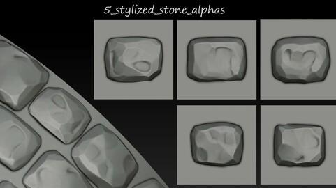 5 Stylized stone alphas