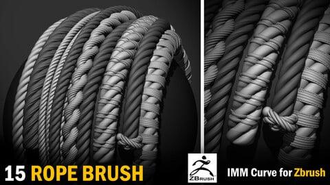 15 IMM Rope Brush for Zbrush