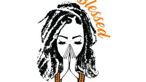 Blessed Black Girl SVG