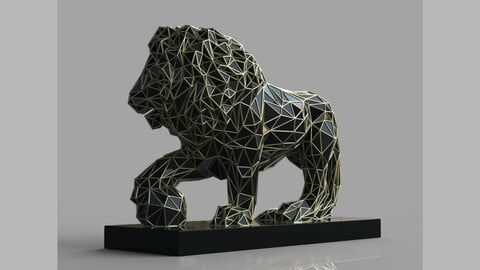 Abstract Lion - 3D Printing