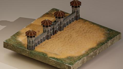 Castle Wall Level 15 3D Model