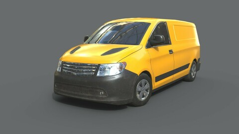 Generic Minivan Yellow
