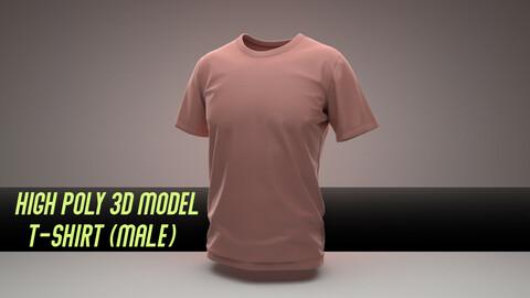 T-shirt (highpoly, male)