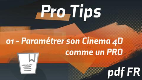 Pro Tips 01 | Paramétrer son Cinema 4D comme un PRO