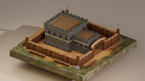 Medieval Castle Level 1 3D Model